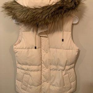 Cream Banana Republic Padded vest with imitation